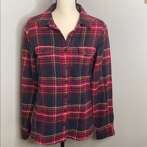 Patagonia red plaid button down - 6